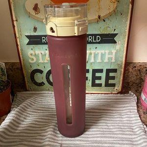 Starbucks glass water bottle